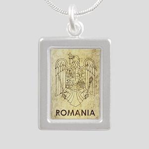 Vintage Romania Silver Portrait Necklace