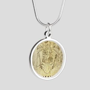 Vintage Romania Silver Round Necklace