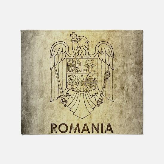 Vintage Romania Throw Blanket