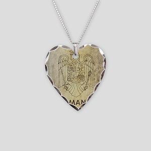 Vintage Romania Necklace Heart Charm