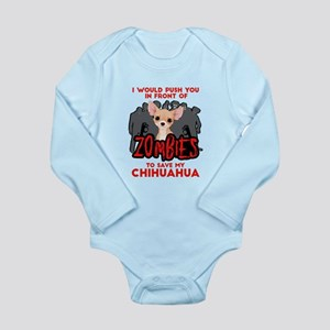 I Would Push You in Fr Long Sleeve Infant Bodysuit