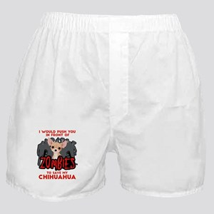 I Would Push You in Front of Zombies Boxer Shorts