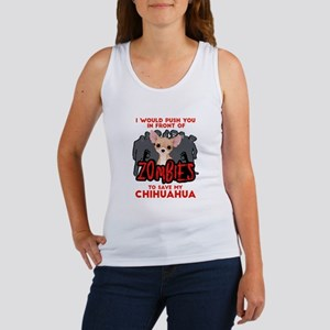 I Would Push You in Front of Zomb Women's Tank Top