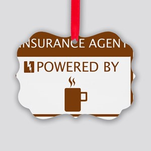 Insurance Agent Powered by Coffee Picture Ornament