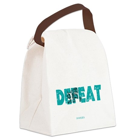 Nothing Can Defeat You Canvas Lunch Bag