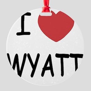 I heart WYATT Round Ornament