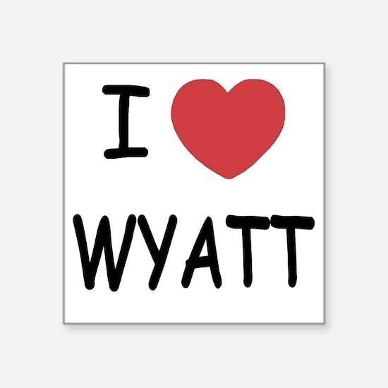 "I heart WYATT Square Sticker 3"" x 3"""