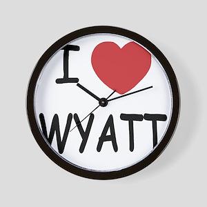 I heart WYATT Wall Clock