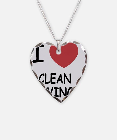 I heart clean living Necklace