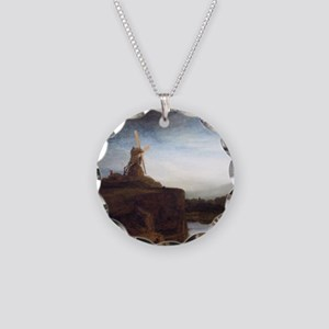 Rembrandt The Mill Necklace Circle Charm