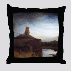 Rembrandt The Mill Throw Pillow