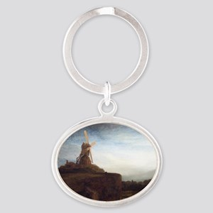 Rembrandt The Mill Oval Keychain