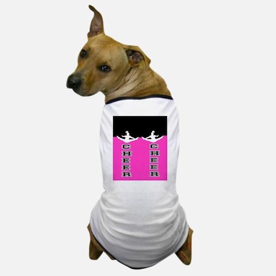 Cheer Black and Pink Dog T-Shirt