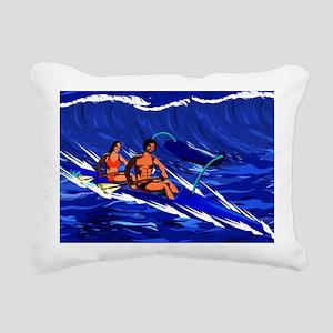 OC-2 Paddlers Rectangular Canvas Pillow