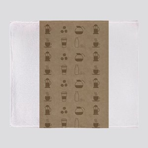 Coffee Icons Throw Blanket