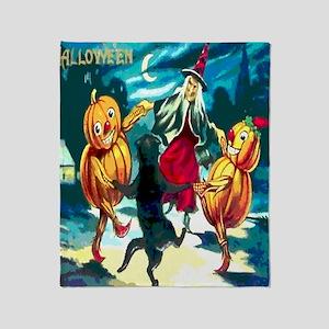 Halloween Dance Shower Curtain Throw Blanket