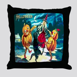 Halloween Dance Shower Curtain Throw Pillow