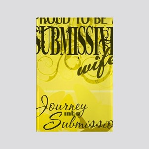 Proudly Submissive (Yellow) Rectangle Magnet