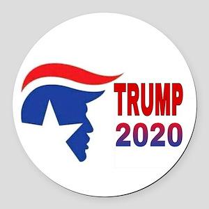 TRUMP 2020 Round Car Magnet