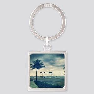Fort lauderdale beach Square Keychain