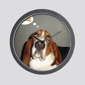 Basset thoughts Wall Clock