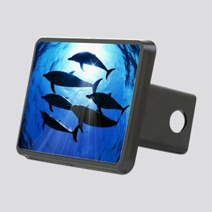 Porpoises in the Ocean wit Rectangular Hitch Cover