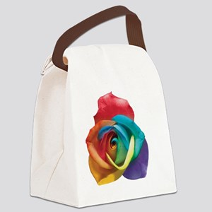 Rainbow Rose Canvas Lunch Bag