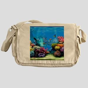Tropical Fish Aquarium with Bright C Messenger Bag