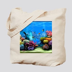 Tropical Fish Aquarium with Bright Colore Tote Bag