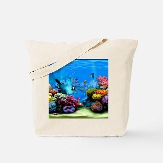 Tropical Fish Aquarium with Bright Colore Tote Bag