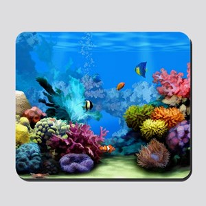 Tropical Fish Aquarium with Bright Color Mousepad