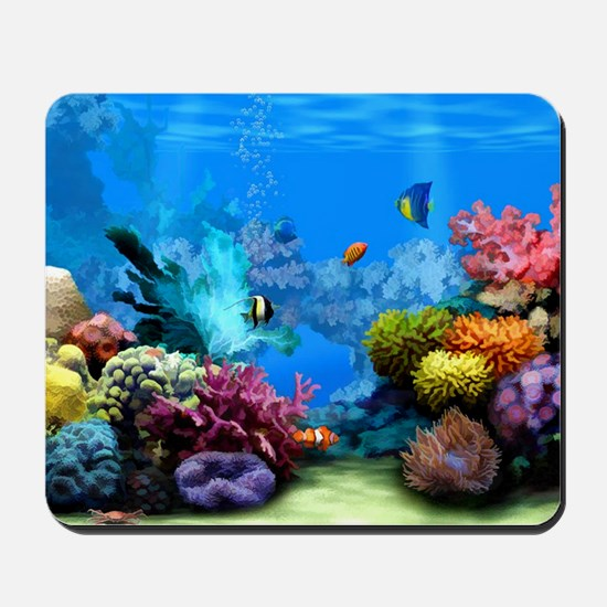 Tropical Fish Aquarium with Bright Color Mousepad