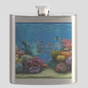 Tropical Fish Aquarium with Bright Colored C Flask
