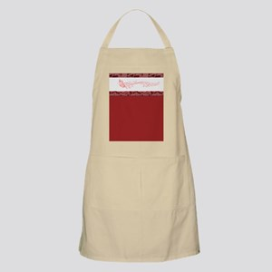 Red Singing Butterfly Apron