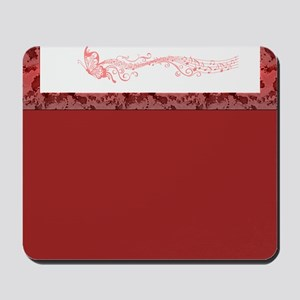 Red Singing Butterfly Mousepad