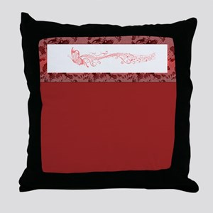 Red Singing Butterfly Throw Pillow