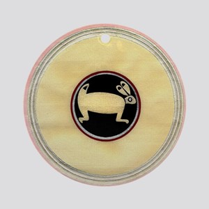 MIMBRES BEAUTIFUL RABBIT BOWL Ornament (Round)