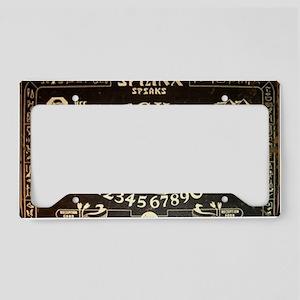 Vintage Sphinx Ouija Board License Plate Holder