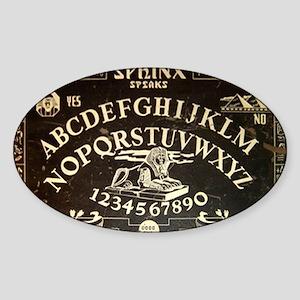 Vintage Sphinx Ouija Board Sticker (Oval)