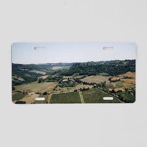 Tuscan Countryside Vista Aluminum License Plate