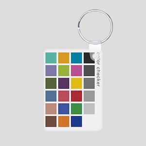 Photographers Color Checke Aluminum Photo Keychain