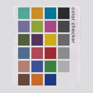 Photographers Color Checker tee Throw Blanket