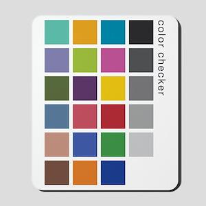 Photographers Color Checker tee Mousepad