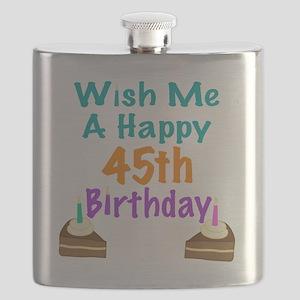 Wish me a happy 45th Birthday Flask
