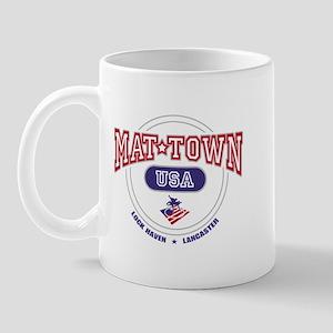 Mat-Town USA Round Logo Mug