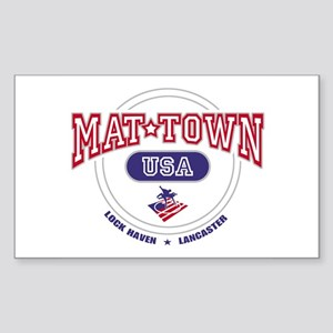 Mat-Town USA Round Logo Rectangle Sticker