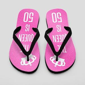 The Queen Is 50 Flip Flops