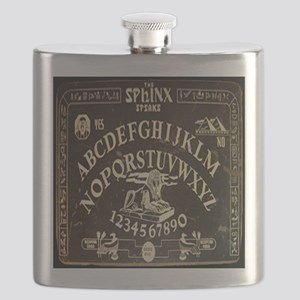 Vintage Egyptian style Sphinx Ouija Board sq Flask