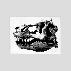 Tyrannosaur Skull 5'x7'Area Rug