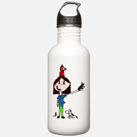 pet girl Sports Water Bottle